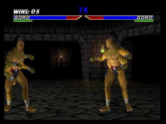 Mortal Kombat 4 - Battle  - Goro vs Goro - User Screenshot